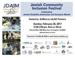 Jewish Disability Awareness and Inclusion Month Celebra...