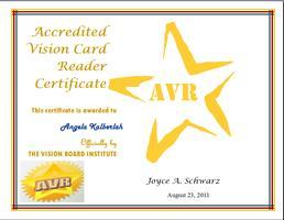 Become an Accredited Vision Card Reader with Joyce Schw...