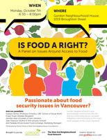 Is A Right? - A Panel on Issues Around Access to Food...