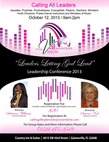 """Leader's Letting God Lead "" - Leadership Conference..."