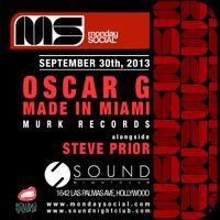 Monday Social at Sound OSCAR G. Get on the Chemistry...