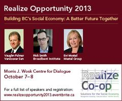 Realize Opportunity 2013- Building BC's Social Economy