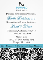 Pumped For Success October Lunch & Learn