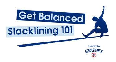 Get Balanced! Slacklining 101 Clinics