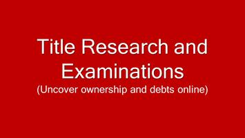 Title Research & Examinations **Online**