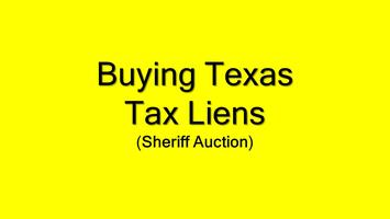 Texas Tax Liens: The Unknown Auction **Online**