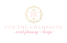 Shaun Cox of Cue The Champagne Event Planning and Design  logo