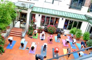 Free Yoga on Rodeo Drive