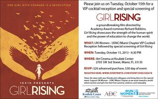 "SOLD OUT ""Girl Rising"" Movie Screening & VIP Cocktail..."