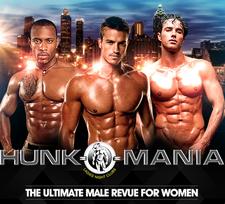 Hunk-O-Mania Male Revue logo
