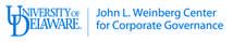 John L. Weinberg Center for Corporate Governance  logo