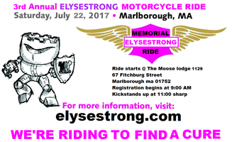 3rd ANNUAL ELYSESTRONG MEMORIAL RIDE