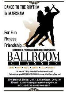 Dance to the Rhythm Markham  logo
