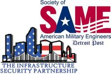 Detroit-Post Society of American Military Engineers (SAME) & The Infrastructure Security Partnerhsip (TISP) logo
