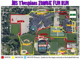 "Jenison HS Thespians ""ZOMBIE FUN RUN"""