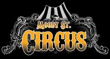 Melina of Daughters of Rhea / Moody Street Circus logo