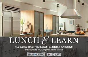 CEU COURSE: SPECIFYING RESIDENTIAL KITCHEN VENTILATION
