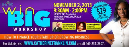 WIN BIG IN 2013 WORKSHOP 3: FINANCING YOUR START UP OR...
