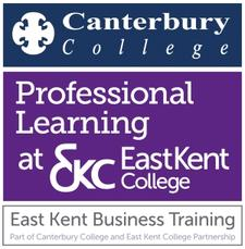 East Kent Business Training - brought to you by East Kent College & Canterbury College Partnership logo