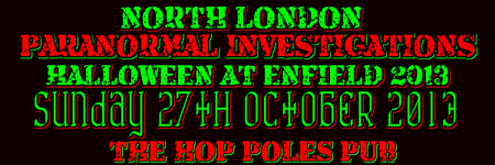 HALLOWEEN @ ENFIELD EVENT & PSYCHIC FAYRE 2013