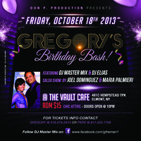 BUY TICKETS FOR GREGORY'S BIRTHDAY BASH