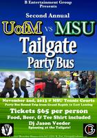 U of M vs MSU Tailgate Party Bus