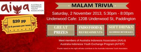 AIYA NSW: MALAM TRIVIA