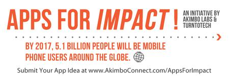 Apps For Impact: An App Pitching Competition by Akimbo...