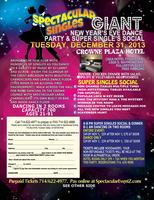 GIANT NEW YEAR'S EVE DANCE & SUPER SINGLES SOCIAL