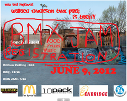 BMX Jam Registration: Wallace Emerson BMX Bike Park...