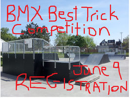 BMX Best Trick Competetion: Wallace Emerson BMX Park...