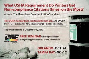 PAF HAZCOM Seminar - Tampa Bay
