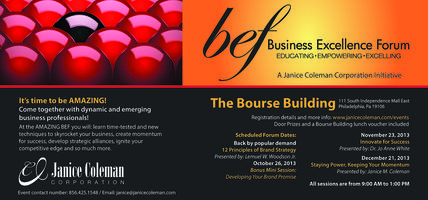 JCC Business Excellence Forum - October