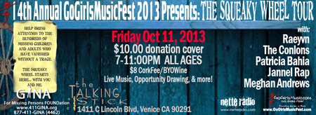 THE 14TH ANNUAL 2013 GOGIRLSMUSICFEST BENEFITING THE...