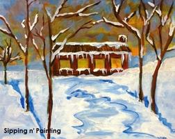 Sip n' Paint Cozy Cabin: Saturday December 14th, 4pm