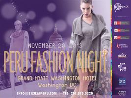 PERU FASHION NIGHT IN WASHINGTON DC