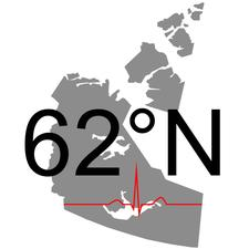 62 Degrees North logo