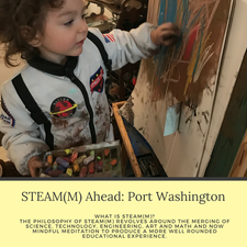 Full STEAM(M) Ahead: Port Washington logo
