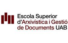 Escola Superior d'Arxivística i Gestió de Documents UAB logo