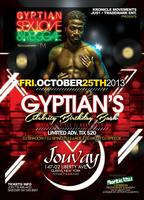 "Friday Oct. 25th ""Reggae Superstar Gyptian's Celebrity..."