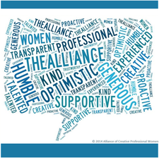 The Alliance of Creative Professional Women logo