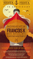 "Siesta Fiesta ""FRANCOIS K"" 17 Yr Anniversary Costume..."