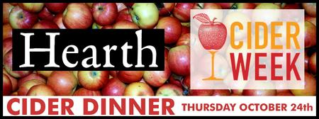 """""""Meet the Producers"""" Cider Dinner at Hearth"""