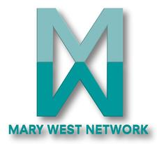 """MARY WEST """"QUEEN OF NETWORKING"""" logo"""