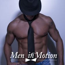 The Men in Motion Male Revue logo