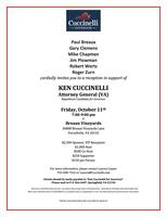 October 11th Reception with Ken Cuccinelli