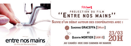 "Projection du film ""Entre nos mains"" et débat"