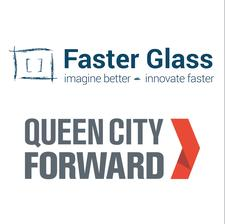 Faster Glass + Queen City Forward logo