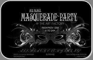 ALL BLACK MASQUERADE PARTY!