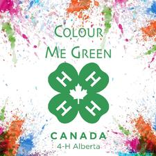 4-H Alberta Colour Me Green logo
